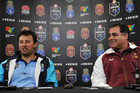 NSW coach Laurie Daley and QLD coach Mal Meninga (AAP)