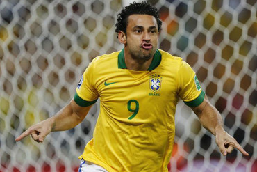 Brazil's Fred opened the scoring in the second minute of the final (Reuters)