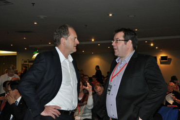 Grant Robertson (R) is one name suggested to take over from Shearer (L) (AAP)