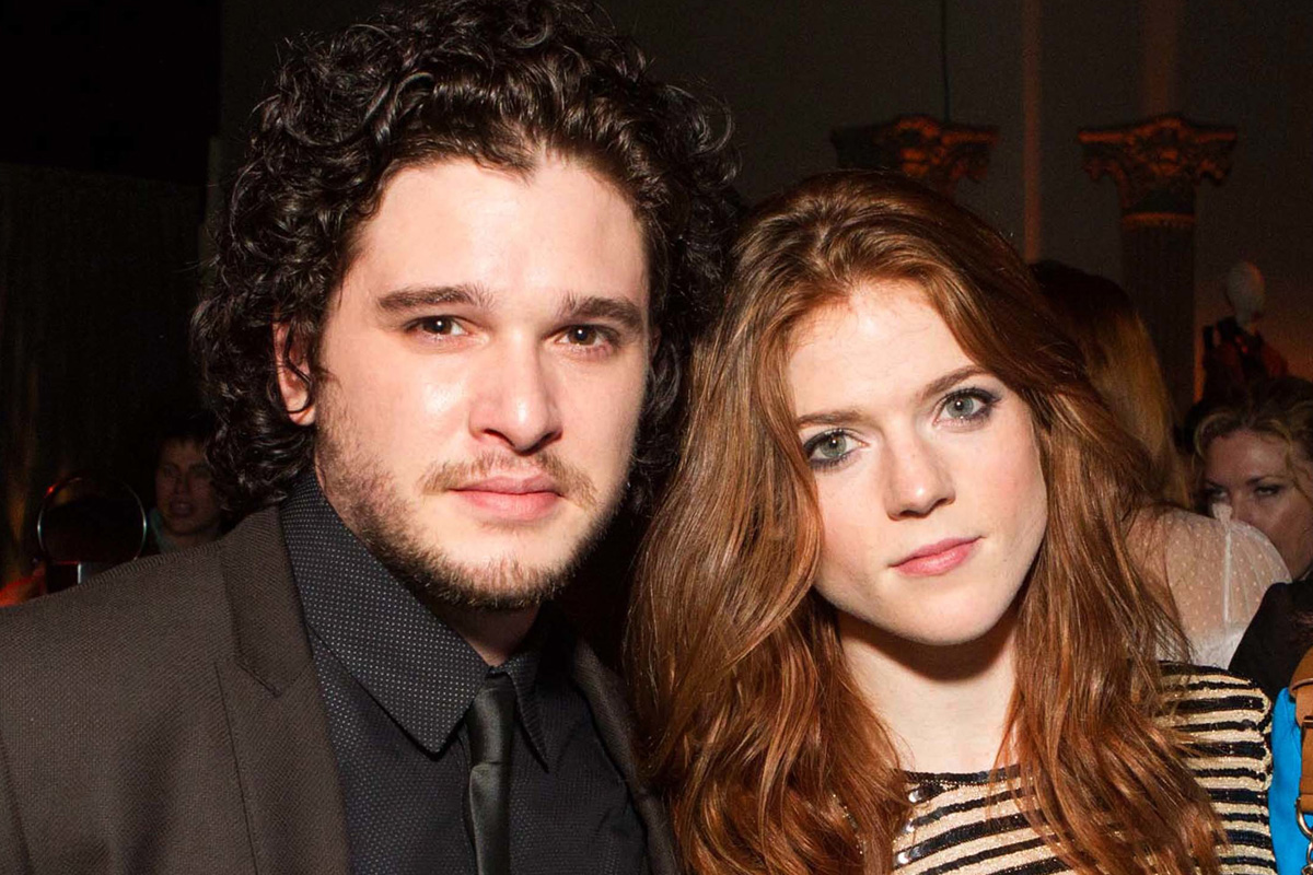 Rose Leslie with friendly, Boyfriend