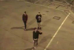 Police have released security images of three men ...