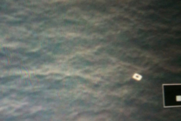 A picture of what is believed to be a piece of debris from the missing Malaysia Airlin