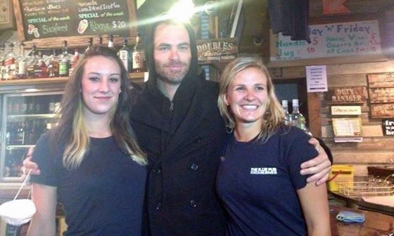 Chris Pine at Methven's Blue Pub