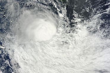 Lusi, a Category 3 storm, formed over the Equatorial Pacific earlier this week (NASA)