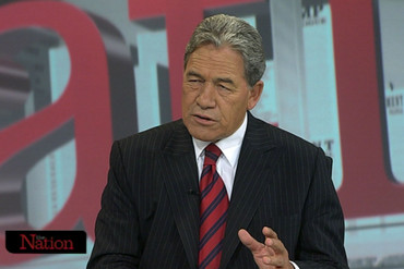 New Zealand First Party leader Winston Peters