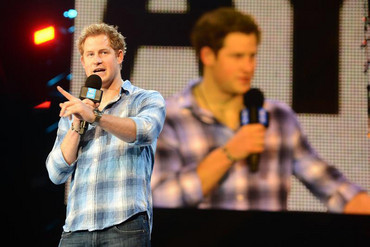 Britain's Prince Harry speaks at the WE Day UK event at Wembley Arena in London (Reuters)