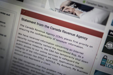 Canada's Revenue Agency shut down its website as a precaution (Reuters)