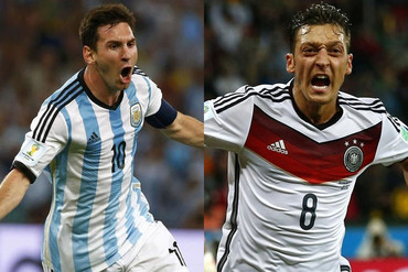 Lionel Messi and Mesut Ozil (Reuters file)
