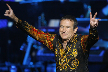 Robin Williams at the Idol Gives Back show in Hollywood, 2008 (Reuters)