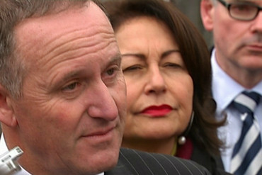 John Key was happy to answer media ques