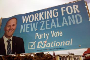 John Key on a National billboard (Photo: Dan Satherley)
