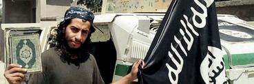 An undated photograph of a man described as Abdelhamid Abaaoud that was published in the Islamic State's online magazine Dabiq and posted on a social media website (AAP)
